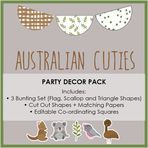 Australian Themed Party Download Printable Pack