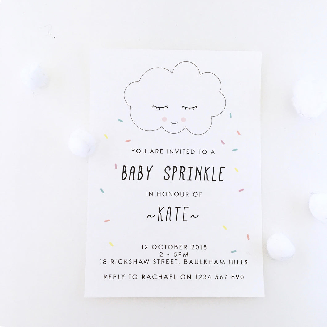 Emma Smith Event Stationery Baby Sprinkle Invitation 2