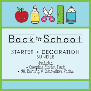 Bright Fun Classroom Decor Printable Bundle