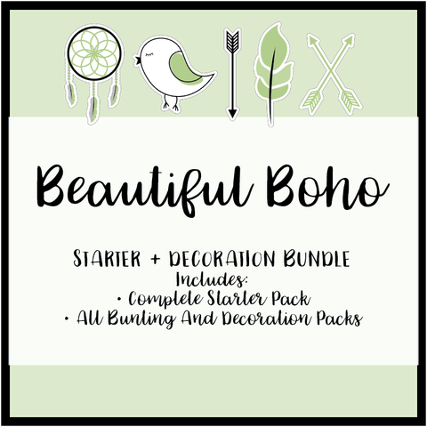 Beautiful Boho - Classroom and Decoration Bundle