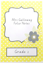 Yellow Daisy Teacher Stationery Printable Download Book Covers