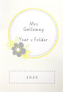 Yellow Daisy Teacher Stationery Printable Download Notebook Cover