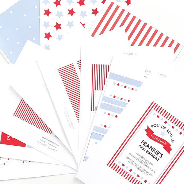 Circus Carnival Theme Birthday Party Printable Download Template Decorations