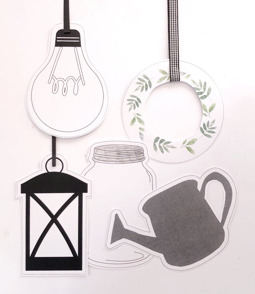Farmhouse Theme Printable Download Classroom Decor Flat lay Cut Outs