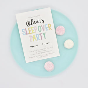 Emma Smith Event Stationery Sleepover Invite 1