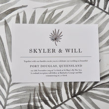Grey Foliage Invitation. Affordable Printable. Emma Smith