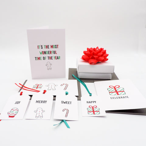 Christmas Cards Bright and Fun aimed at kids | Emma Smith Event Staitonery