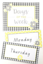 Yellow Daisy Theme Classroom Decor Printable Days of The Week
