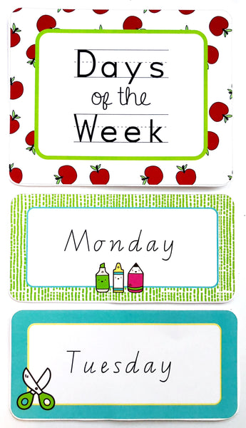 Bright Fun Classroom Decor Printable Bundle Days of the Week