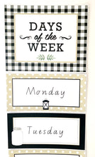 Farmhouse Theme Classroom Decor Printable Download Days of the week