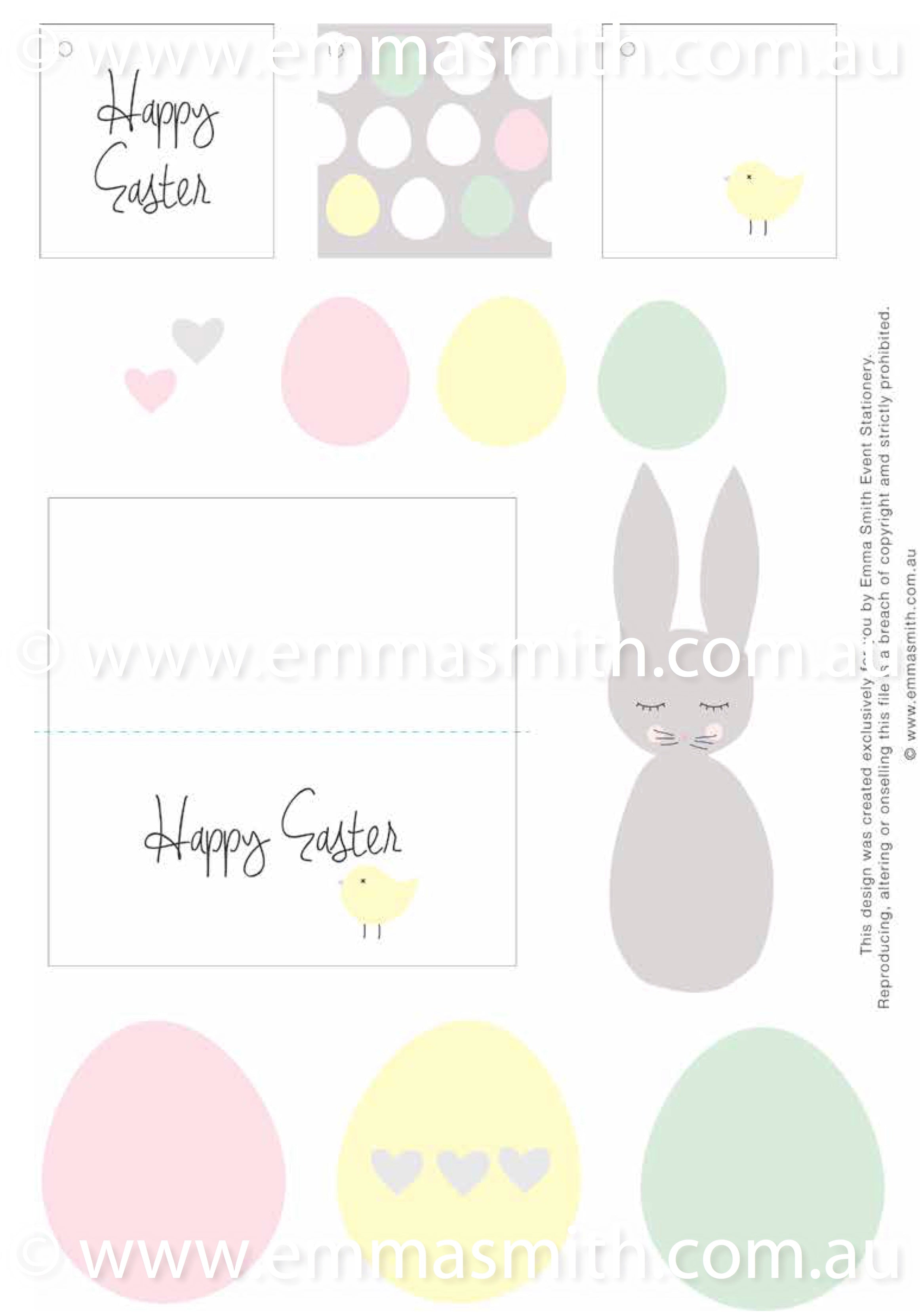 photo relating to Easter Stationery Printable called Easter Electronic Document 2