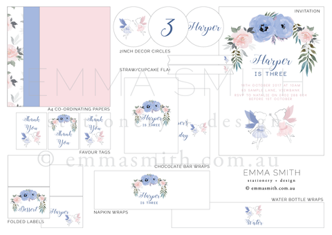 Fairy Enchanted Garden Party Decoration Printable Download Template | Emma Smith Event Stationery