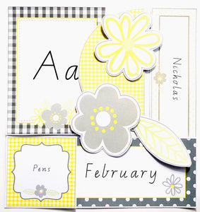 Yellow Daisy Classroom Decor Pack Printable Download Flatlay