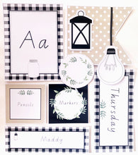 Farmhouse Theme Classroom Decor Printable Download Flatlay