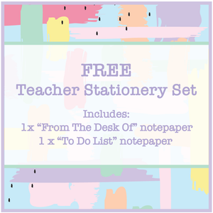 Free Teacher Stationery Set