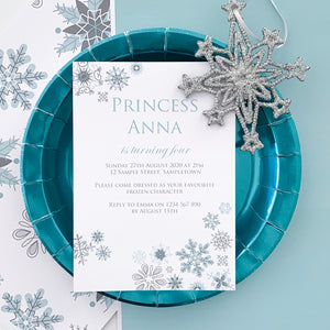 Frozen Snowflake Invitations Template Download | Emma Smith Event Stationery