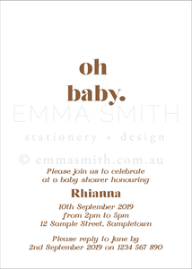 Gingham Dreams Baby Shower Printable Digital Invitation