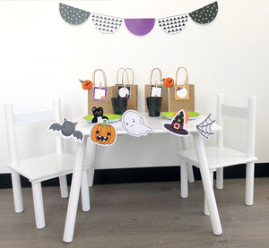 Halloween Party Printable Bunting Decor Download