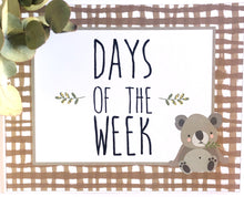 Australian Classroom Decor Theme Printable Days of the week