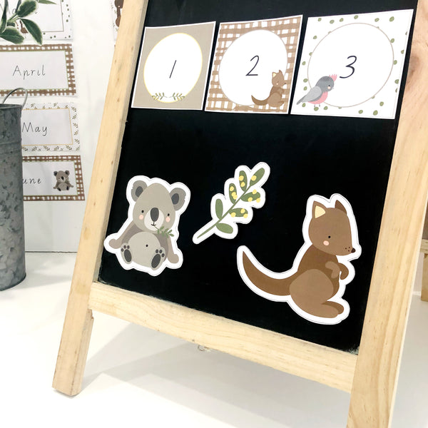 Australian Cuties Classroom Decor Bundle Cut outs and Number close up