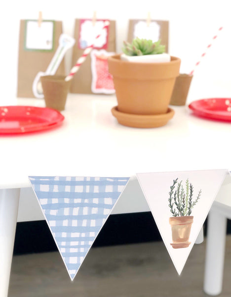 Gardening Theme Party Decorations Download Printable Bunting