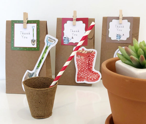 Gardening Theme Party Decorations Download Printable Treat Bags
