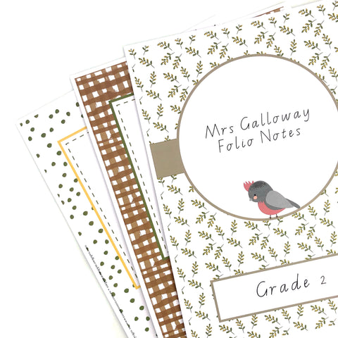 Australian Themed Teacher Stationery Download Book Covers