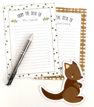 Australian Themed Printable Download Teacher Note paper