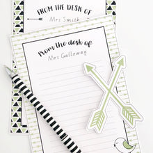 Fresh Green Boho Teacher Stationery Printable Download Note Paper