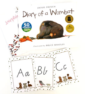 Australian Themed Printable Download with books and Alphabet cards