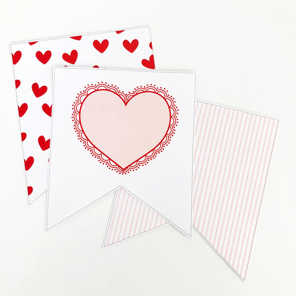 Cute Valentines Day Printable Bunting | Emma Smith Event Stationery