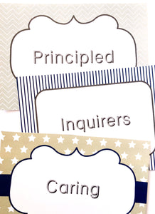 IB PYP Printable Download signs for Attitudes and learner profile.