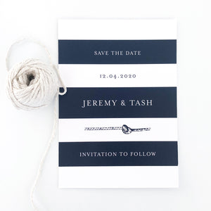 Wedding Save The Date Nautical Navy Easy and Affordable - Printable