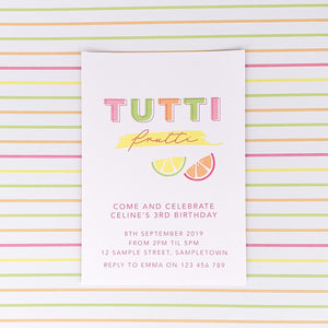 Fruit Themed Party Digital Download Printable Invitation