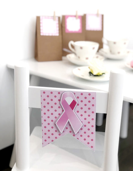 Breast Cancer Awareness Decor Printable Download Pink Ribbon