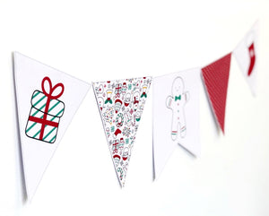 Christmas Decor Printable Download Cute and Bright Bunting