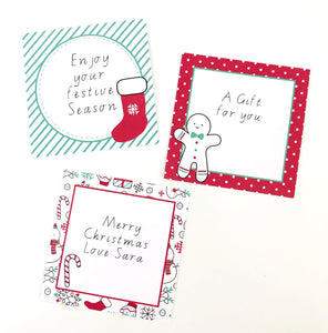Christmas Decor Labels Printable Download Cute and Bright