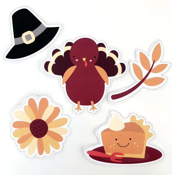 Cute Thanksgiving Printable Decor Download Decals