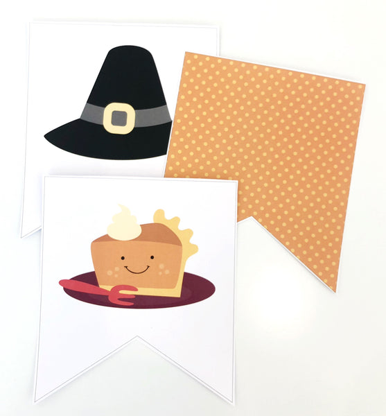 Cute Thanksgiving Printable Decor Download Bunting Flags