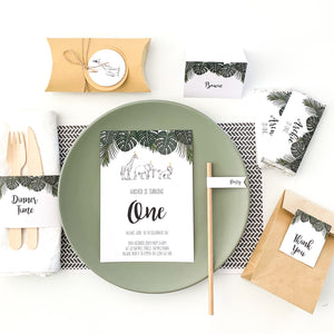 Safari Party Digital Download Printable Party | Emma Smith Stationery