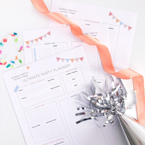 Free Ultimate Party Planner List Download Printable