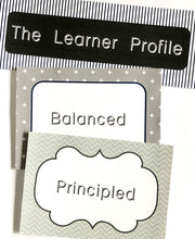 IB PYP Printable Download signs for Attitudes and learner profile. Classroom Decor