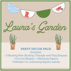 Gardening Theme Party Decorations Download Printable Pack