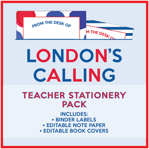 London's Calling - Teacher Stationery Pack