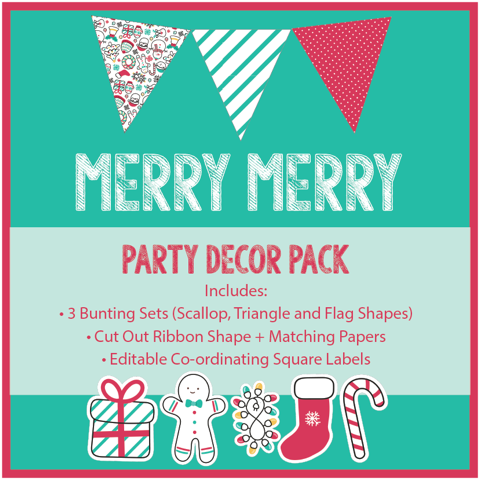 Christmas Decor Printable Download Cute and Bright