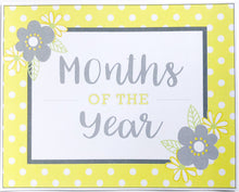 Yellow Daisy Classroom Decor Pack Printable Download Months of the Year