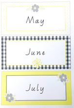 Yellow Daisy Theme Classroom Decor Printable Bunting Months