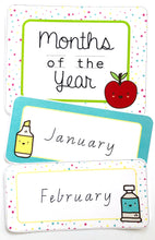 Bright Fun Classroom Decor Printable Months of The Year