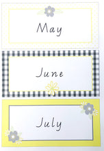 Yellow Daisy Classroom Decor Pack Printable Download Months