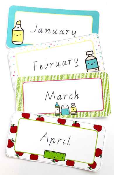 Bright Classroom Decor Printable Download Months
